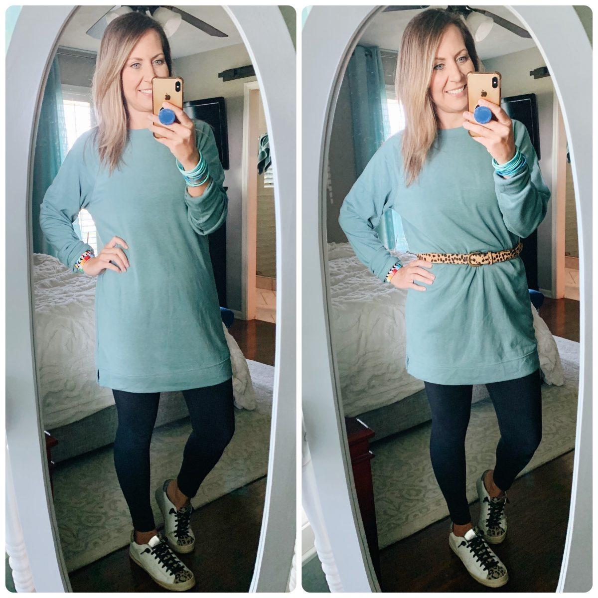 tunic sweatshirts to wear with leggings
