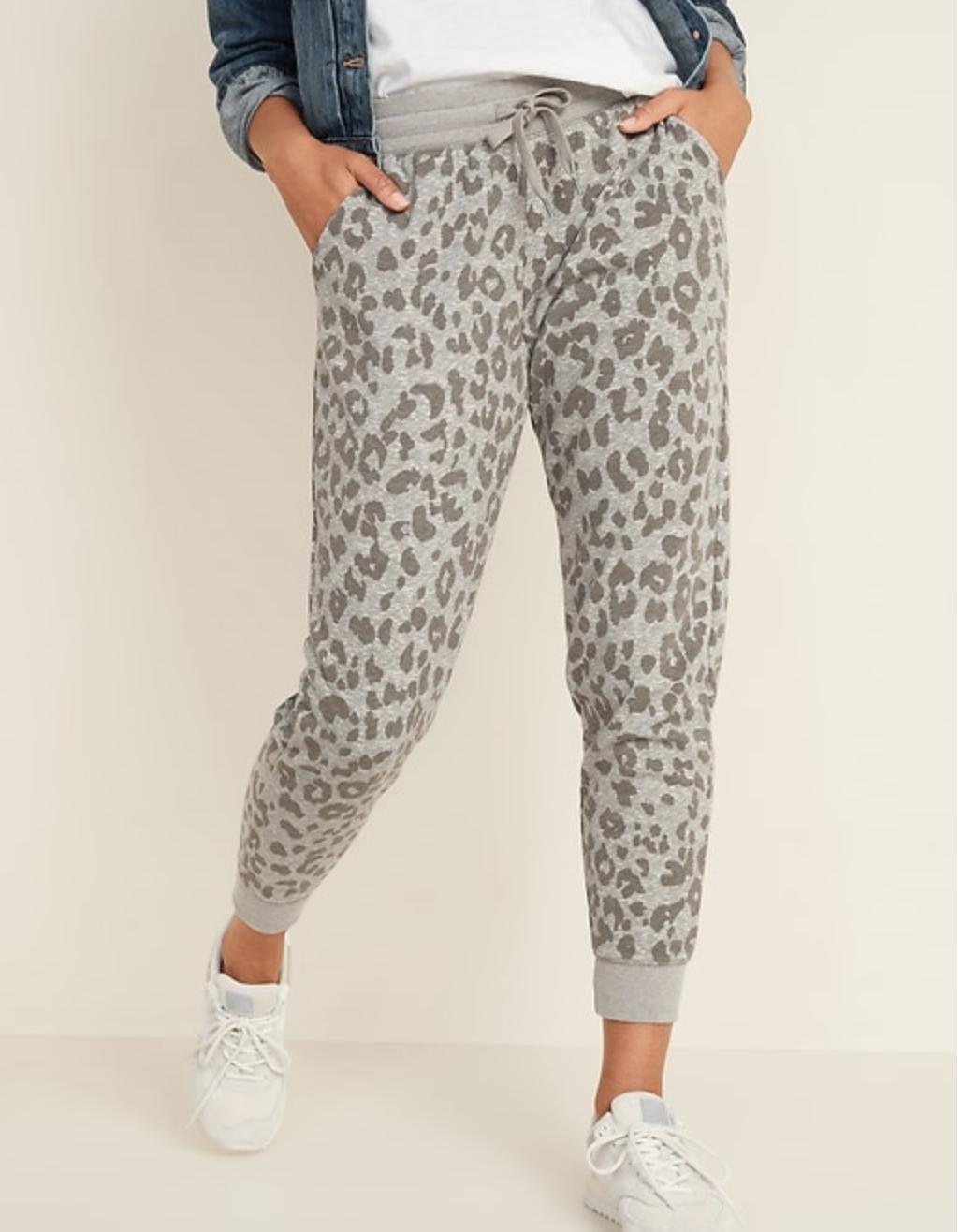 womens leopard print joggers