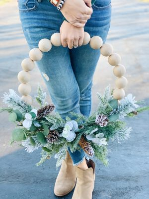 Wooden Ball Wreath DIY