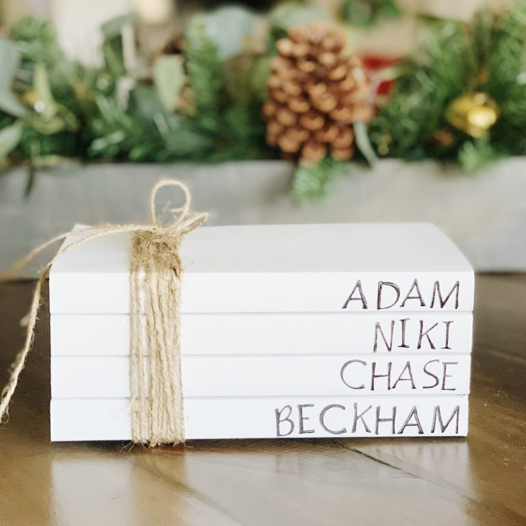 DIY Personalized Book Stack