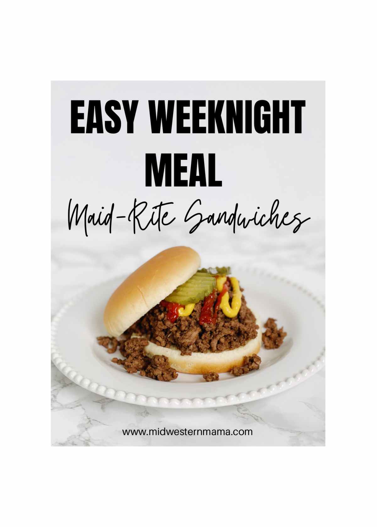 Maid Rite loose meat sandwich recipe