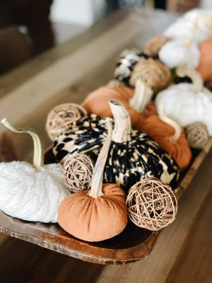 DIY Fabric pumpkins. Learn how to make your own fabric pumpkins using old sweaters or shirts